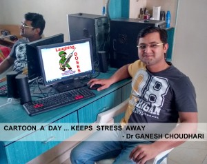 Dr Ganesh Choudari the cartoon man