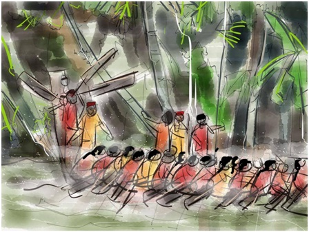 rakesh ramesh I pad art  alleppy boat race clip art sketch